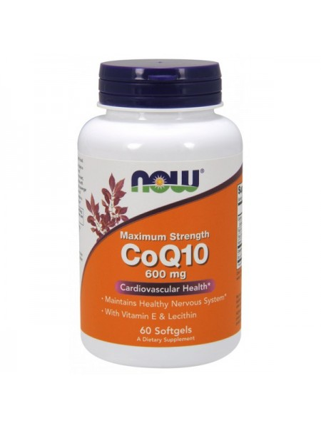 Now Foods CoQ10 600 mg Softgels (60 капс.)