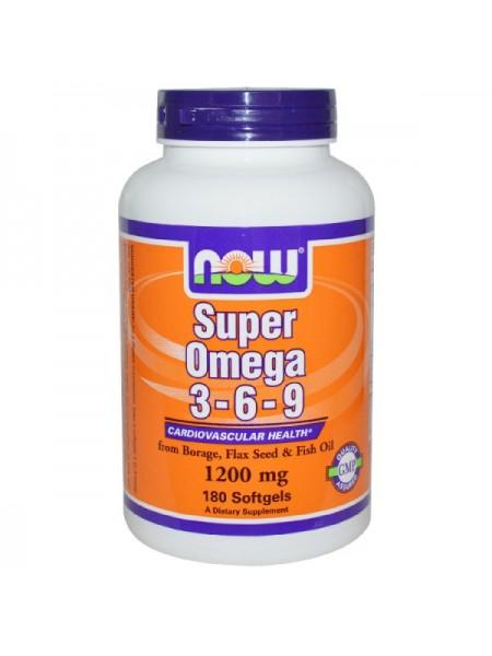 Now Foods Super Omega 3-6-9 (180 капс.)