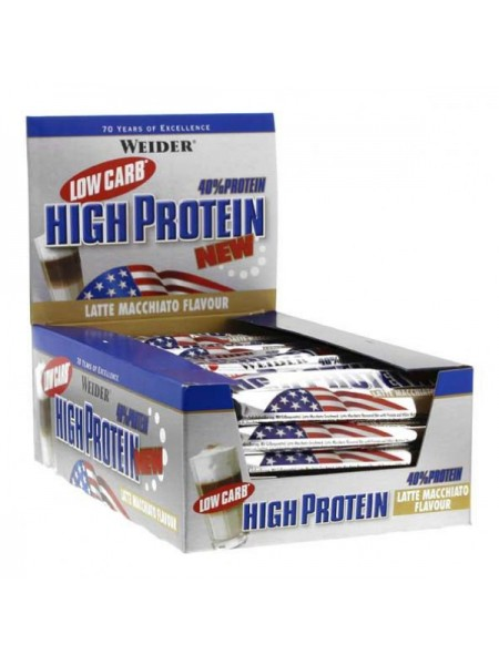 Weider 40% Low Carb High Protein 50 гр. (24 шт.)