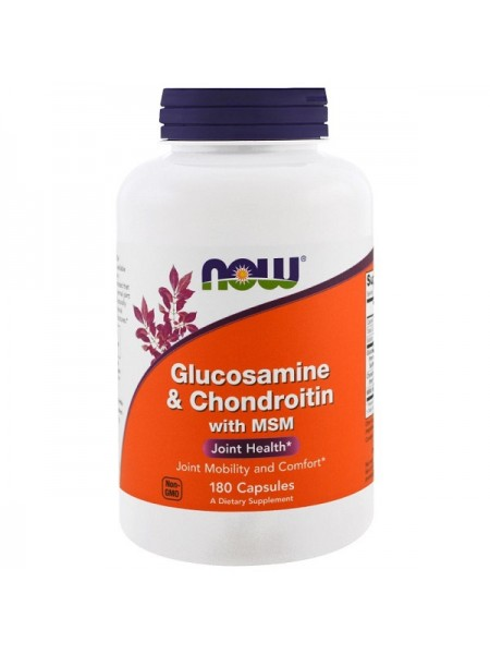 Now Foods Glucosamine & Chondroitin with MSM Capsules (180 капс.)