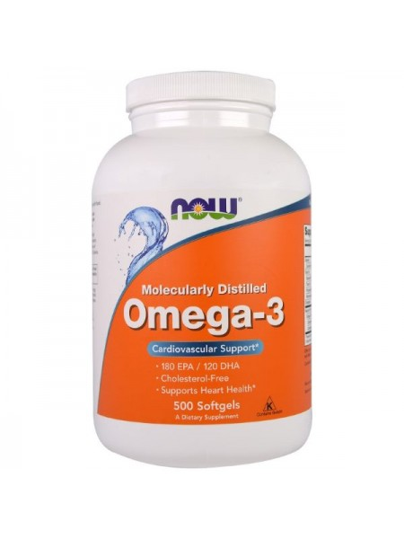 Now Foods Omega-3 (500 капс.)