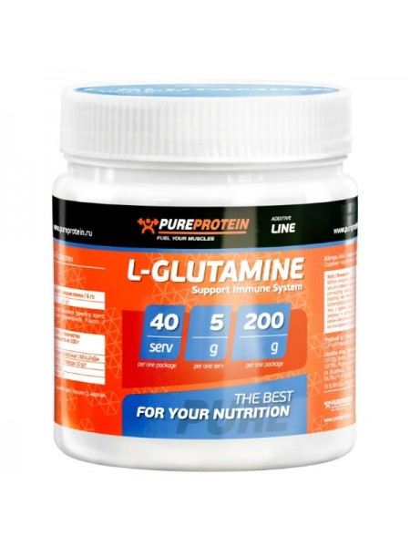 PureProtein Additive Line L-Glutamine (200 гр.)