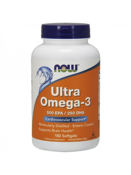 Now Foods Ultra Omega-3 (180 капс.)