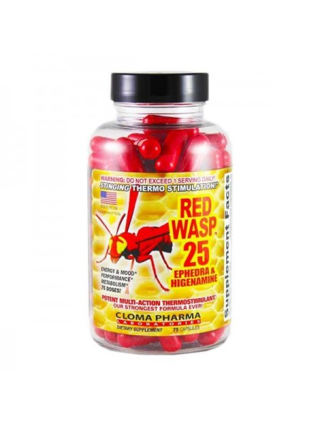 Cloma Pharma Red Wasp 25 Ephedra & Higenamine (75 капс.)