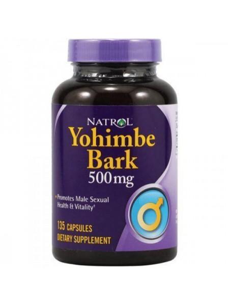 Natrol Yohimbe Bark 500 мг (135 капс.)