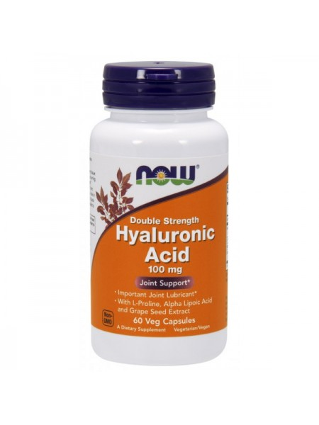 Now Foods Hyaluronic Acid 100mg Veg (60 капс.)