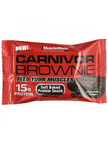 MuscleMeds Carnivor Brownie 52 гр. (12 шт.)
