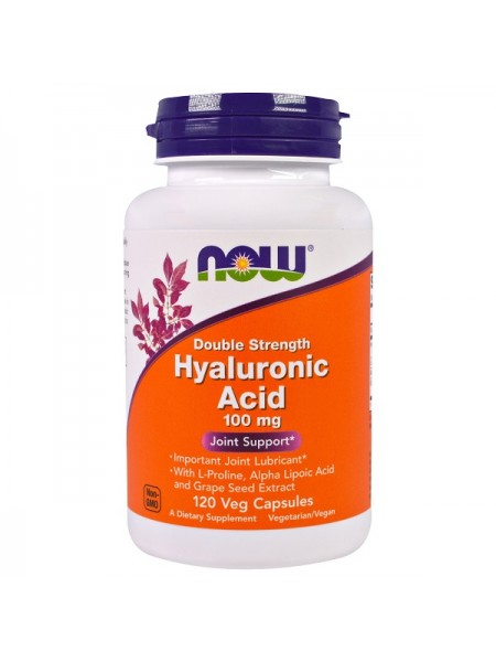 Now Foods Hyaluronic Acid 100mg Veg (120 капс.)