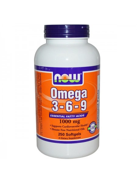 Now Foods Omega 3-6-9 (250 капс.)