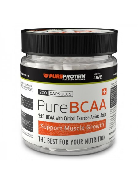 PureProtein Additive Line PureBCAA (200 капс.)