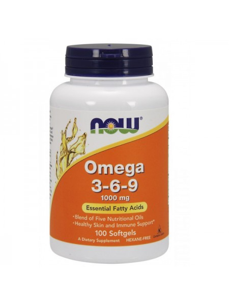 Now Foods Omega 3-6-9 1000 mg Softgels (250 капс.)