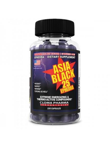 Cloma Pharma Asia Black 25 Ephedra (100 капс.)