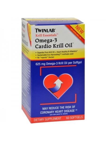 Twinlab Krill Essentials Omega-3 Cardio Krill Oil 625 mg Softgels (60 капс.)