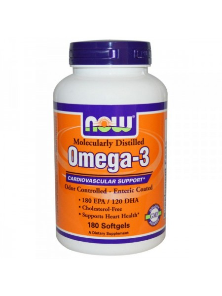 Now Foods Omega-3 (180 капс.)