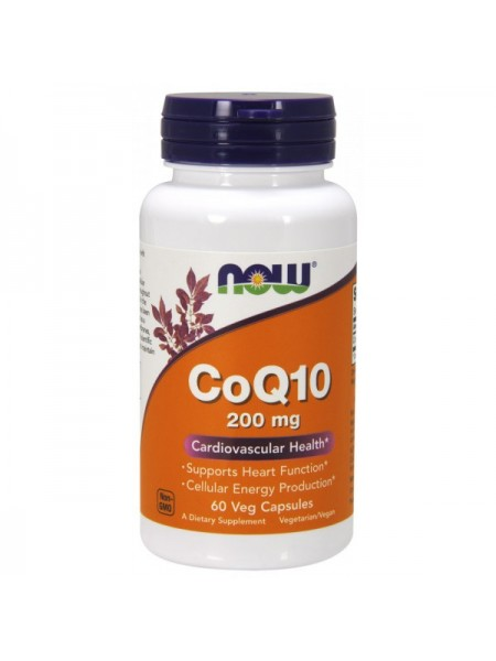 Now Foods CoQ10 200 mg Veg (60 капс.)