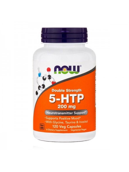 Now Foods Double Strength 5-HTP 200 mg (120 вег. капс.)